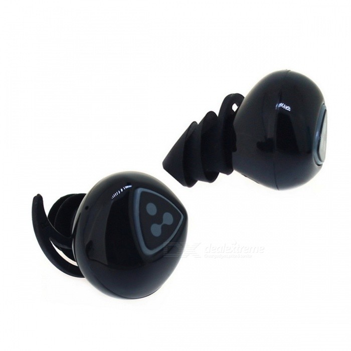 Syllable D900S Mini Wireless Bluetooth Earbuds In-ear Headset  - BlackHeadphones<br>Form  ColorBlackModelD900SMaterialABSQuantity1 DX.PCM.Model.AttributeModel.UnitShade Of ColorBlackEar CouplingOthers,In-earBluetooth VersionBluetooth V4.0Operating Range10MMicrophoneYesSupports MusicYesConnects Two Phones SimultaneouslyYesApplicable ProductsUniversal,???????????????Built-in Battery Capacity 65 DX.PCM.Model.AttributeModel.UnitBattery TypeLi-ion batteryTalk Time4 DX.PCM.Model.AttributeModel.UnitMusic Play Time4Hour DX.PCM.Model.AttributeModel.UnitStandby Time90 DX.PCM.Model.AttributeModel.UnitPower AdapterOthers,Charging BoxBrandSyllableConnectionBluetoothBluetooth ChipCSR8670Headphone StyleBilateral,In-Ear,BluetoothWaterproof LevelIPX4Headphone FeaturesPhone Control,Long Time Standby,Noise-Canceling,With Microphone,Lightweight,Portable,Invisible Style,For Sports &amp; ExerciseSupport Memory CardNoSupport Apt-XYesFrequency Response20-20KHZImpedance16 DX.PCM.Model.AttributeModel.UnitDriver Unit8mmPacking List1 * Bluetooth Wireless Earbuds ( Pair )1 * Charging Box<br>
