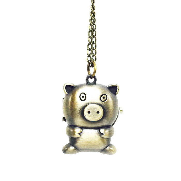 Buy Pig Style Alloy Quartz Necklace Pocket Watch - Bronze with Litecoins with Free Shipping on Gipsybee.com