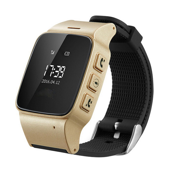 DMDG GPS Locator Watch Phone / GPS Tracker / SOS Alarm -Champagne GoldHandheld GPS<br>Form ColorChampagne Gold+BlackMaterialABS + siliconeQuantity1 DX.PCM.Model.AttributeModel.UnitShade Of ColorGoldNetworkGSM,GPRSGPS ChipMTK3336GSM/GPRS ModuleUBLOXFrequency RangeGSM850/900/1800/1900MHZGPS Sensitivity-159dBmPosition Accuracy5~15mScreen Size33*38 DX.PCM.Model.AttributeModel.UnitScreen TypeOLEDResolution128x64Hot Startup Time1 DX.PCM.Model.AttributeModel.UnitCold Startup Time30 DX.PCM.Model.AttributeModel.UnitWarm Start Time25SAntennaNoMaps IncludedYesMeasuring Temperature-20°C to +55°CStorage Temperature-40°C to +85°CMeasuring Humidity5%~95% non-condensingBuilt-in Memory / RAMNoStandby Time100 DX.PCM.Model.AttributeModel.UnitBattery TypeLi-polymer batteryPacking List1 * GPS watch1 * USB Cable(20 cm)1 * English user manual<br>