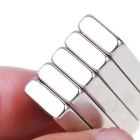 40*12*4mm Rectangle Neodymium NdFeB Magnet Dual Holes - Silver (5PCS)