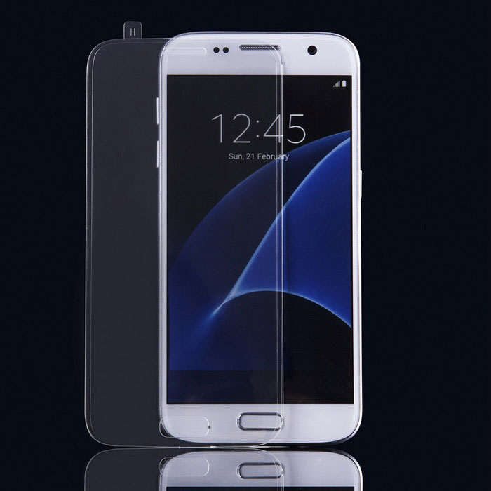 Full-Screen Tempered Glass Screen Film for Samsung S7 - Transparent