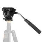 VELEDGE VT-1510 Cámara de vídeo Tripod Fluid Camera Pan Head - Negro