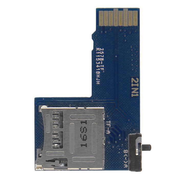 2-in-1 Dual Micro adaptateur SD / TF Card pour Raspberry Pi
