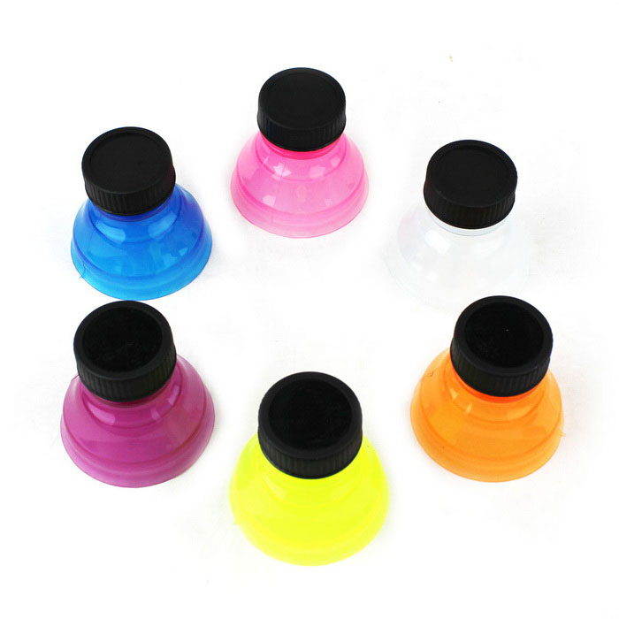 Soda Cans Food Grade Beverage Seal Covers - Black + Multicolor (6pcs)