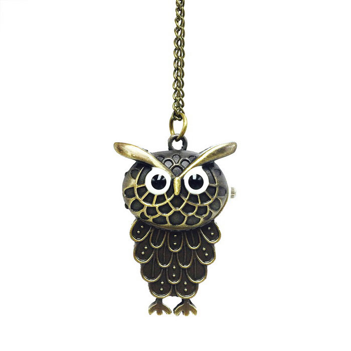Owl Style Zinc Alloy Quartz Necklace Pocket Watch - BronzePocket Watches<br>Form  ColorAntique BrassQuantity1 DX.PCM.Model.AttributeModel.UnitShade Of ColorCyanCasing MaterialZinc alloyWristband MaterialZinc alloyGenderUnisexSuitable forAdultsStylePocket WatchTypeFashion watchesChain Length80 DX.PCM.Model.AttributeModel.UnitDisplayAnalogMovementQuartzDisplay Format12 hour formatWater ResistantFor daily wear. Suitable for everyday use. Wearable while water is being splashed but not under any pressure.Wristband Length80 DX.PCM.Model.AttributeModel.UnitDial Diameter3.4 DX.PCM.Model.AttributeModel.UnitDial Thickness1.5 DX.PCM.Model.AttributeModel.UnitBand Width0.25 DX.PCM.Model.AttributeModel.UnitBattery1 * 377 Battery (included)Packing List1 * Pocket watch<br>