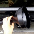 ZIQIAO Car Motorcycle Fuel Funnel - Black