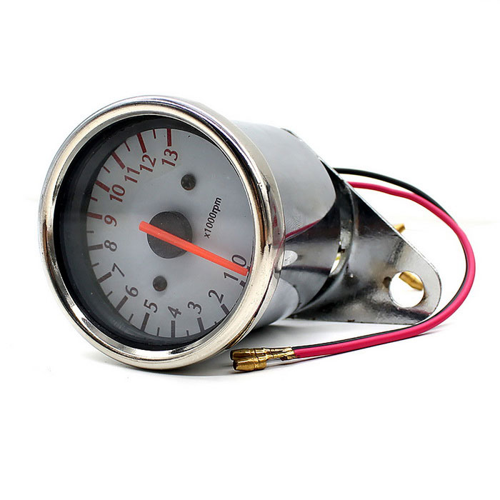 Cs-300A1 12V Motorcykel Tachometer Inductance Meter m / White Pointer