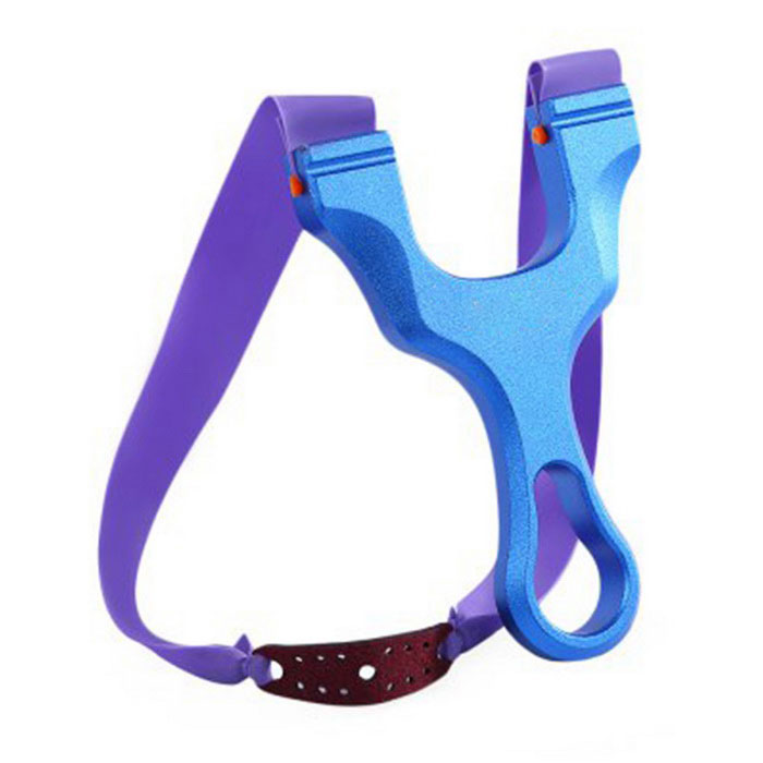 Buy Outdoor Titanium Magnesium Alloy Slingshot - Blue with Litecoins with Free Shipping on Gipsybee.com