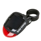 YouOKLight Solar Power 2-LED 3-Mode Bicycle Tail Light Red Light