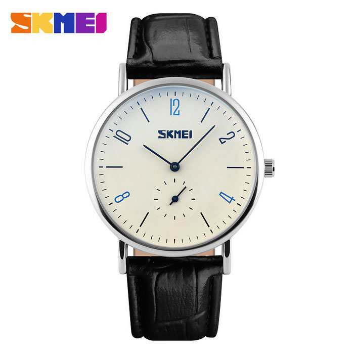 Buy SKMEI 9120 Men's 50 Meters Waterproof Calendar Quartz Watch - Black with Litecoins with Free Shipping on Gipsybee.com