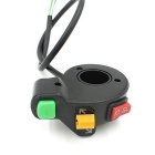 CS-004 Moto Signal Commutateur Corne Headlight Switch - Noir + Jaune