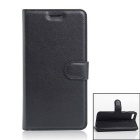 Flip Open PU Leather Wallet Cases w/ Card Slots for iPhone 7 - Black