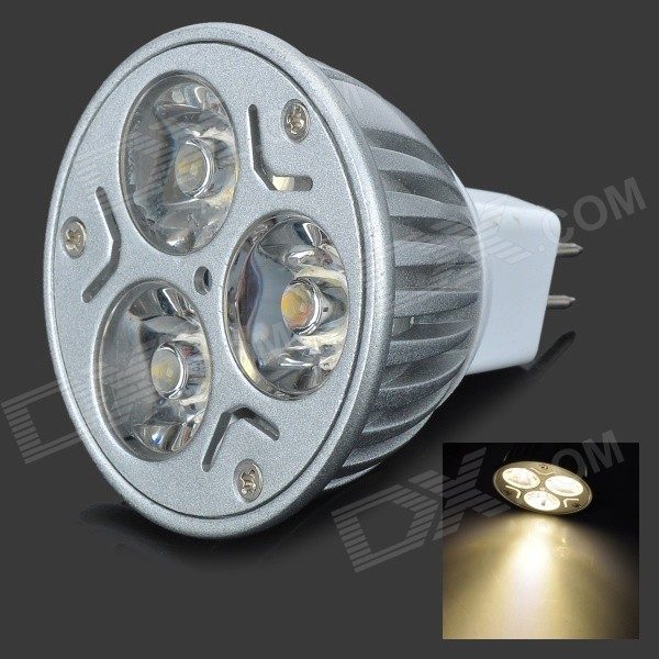 MR16 3-LED 3W 210lm 2800K Warm White Ceiling Spot Light Bulb (12V)