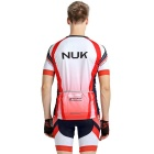 NUCKILY Red/XL Summer Cycling Short Sleeves Jersey Shorts Set for Men
