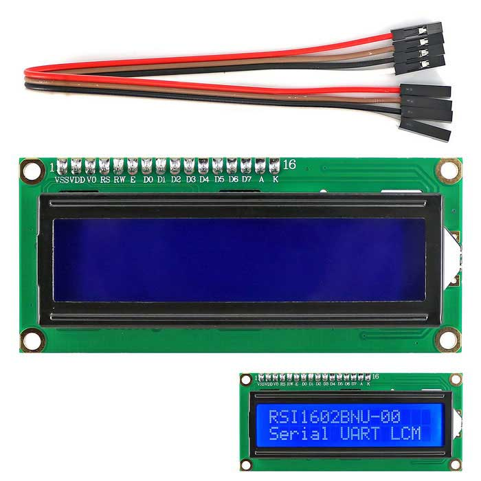 I2C / IIC LCD 1602 Blue Display Module with 4P Wire for Arduino