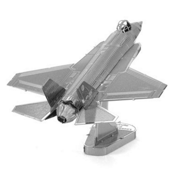 3D Metal Puzzle F35 Fighter Model Toy - SilverBlocks &amp; Jigsaw Toys<br>Form  ColorSilverMaterialMetalQuantity1 DX.PCM.Model.AttributeModel.UnitNumber13Size7.7*5.6*4Suitable Age 12-15 years,Grown upsPacking List1 * Chinese user manual1 * Puzzle<br>