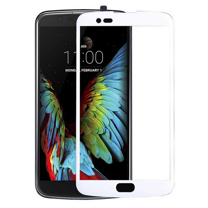 Tempered Glass Full Screen Protector for LG K10 - White + Transparent