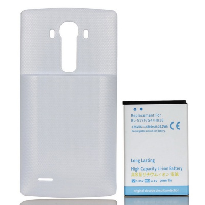 Replacement 6800mAh Li-ion Battery + Back Case for LG G4 + More