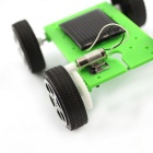DIY Educational Pienet Production Malli Solar Car lelu - Vihreä + Musta