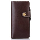 Cow Split Leather Case w / kortspor for Samsung Galaxy Note 7
