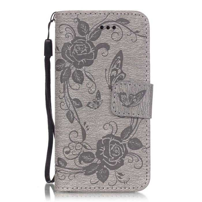 BLCR Butterfly Pattern PU + TPU Wallet Case for IPHONE SE/5S/ 5