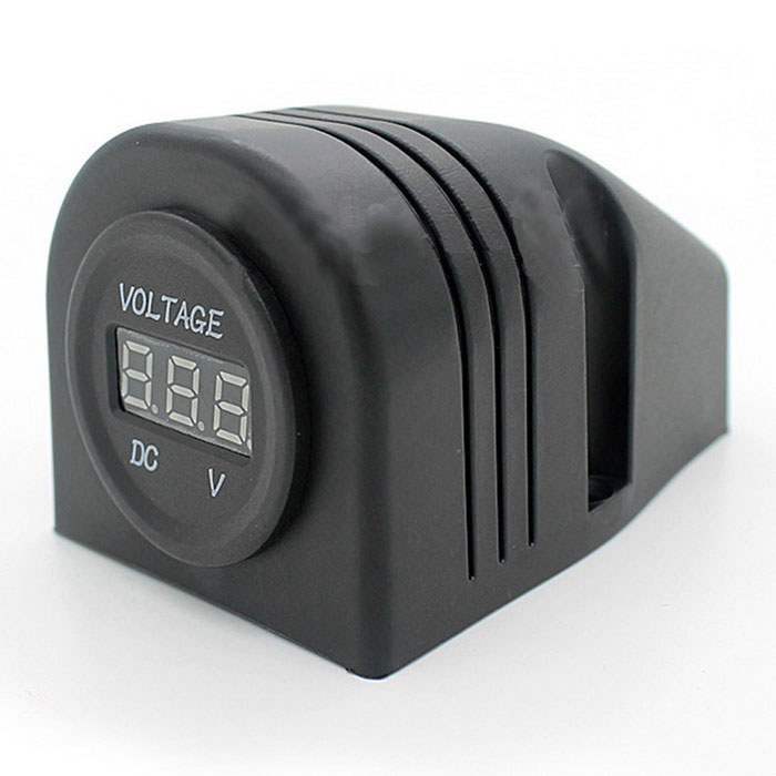 cs-285A1 12 ~ 24V biltält modifierad DC LED digital voltmeter-svart
