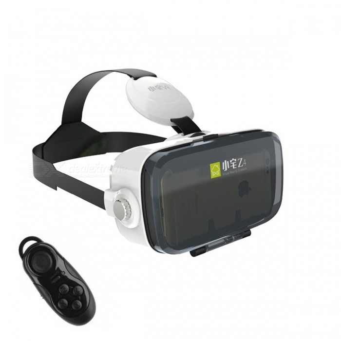 Xiaozhai Z4 Mini VR 3D Glasses + Bluetooth Controller - White + Black