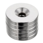 D25 * 4 * 5mm Cylindrical NdFeB Magnets w/ Sink Hole - Silver (5PCS)