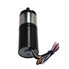 80RPM High Torque DC BLDC3650 Gear Brushless Motor - Black + Silver