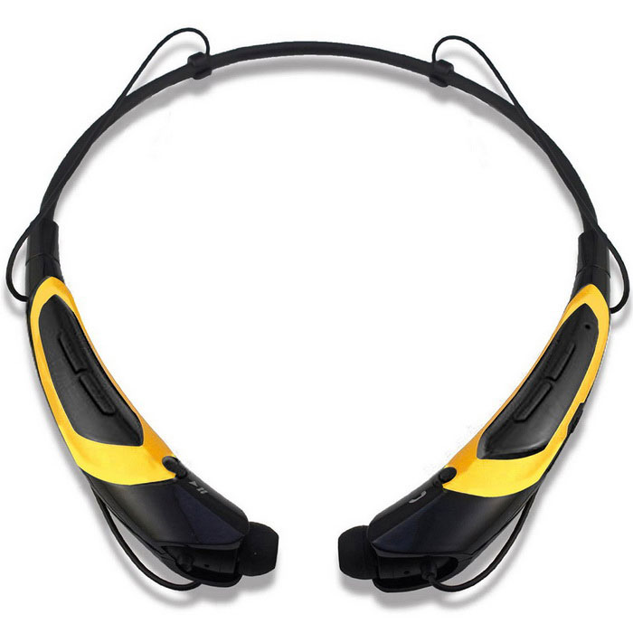 KWB HBS-760 Universal Bluetooth Neckband Headphone - Black + YellowHeadphones<br>Form  ColorBlack + YellowModelHBS-760MaterialPCQuantity1 DX.PCM.Model.AttributeModel.UnitShade Of ColorBlackEar CouplingIn-EarBluetooth VersionBluetooth V4.0Operating Range10mRadio TunerNoMicrophoneYesSupports MusicYesConnects Two Phones SimultaneouslyYesApplicable ProductsUniversalBuilt-in Battery Capacity 130 DX.PCM.Model.AttributeModel.UnitBattery TypeLi-ion batteryTalk Time8 DX.PCM.Model.AttributeModel.UnitMusic Play Time8 hours DX.PCM.Model.AttributeModel.UnitPower AdapterUSBPower Supply5VCertificationCE, RoHSBrandOthers,KWBConnectionBluetoothHeadphone StyleBilateral,In-Ear,Neckband,BluetoothWaterproof LevelOthers,Sweat-proofHeadphone FeaturesPhone Control,Magnetic Adsorption,Volume Control,With Microphone,Portable,For Sports &amp; ExerciseSupport Memory CardNoSupport Apt-XYesPacking List1 * Bluetooth Neckband Headphones1 * USB cable (40CM)4 * Earbud caps1 * English user manual<br>