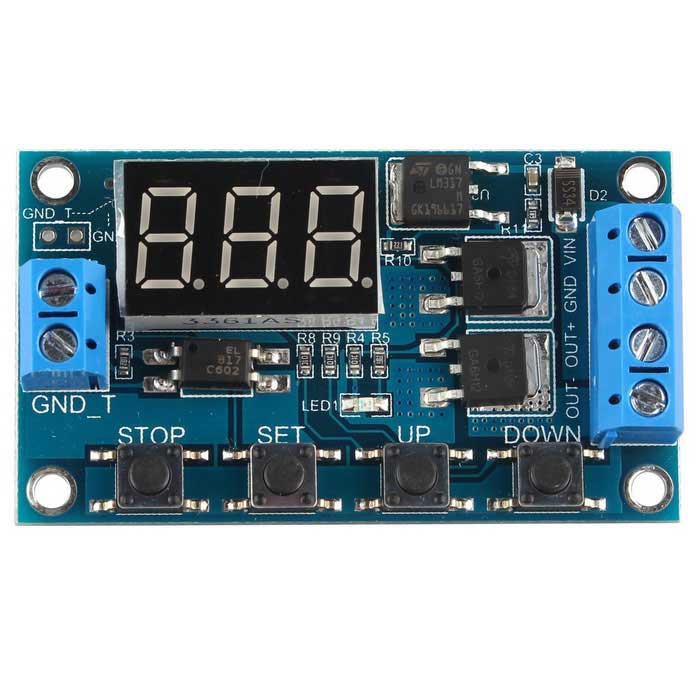 Trigger Cycle Timer Delay Switch Circuit Dual MOS Tube Control Board