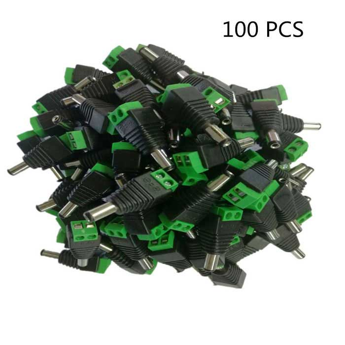 DC Male Head Welding-Free Power Adapter Plugs (100 PCS)CCTV Parts &amp; Components<br>Form  ColorBlack + greenModelk2MaterialABSQuantity100 DX.PCM.Model.AttributeModel.UnitChannels Quanlity2,4,6 DX.PCM.Model.AttributeModel.UnitWorking Temperature-50-68 DX.PCM.Model.AttributeModel.UnitPower AdaptornoPower AdapterWithout Power AdapterRate Voltage1~36VRated Current10 DX.PCM.Model.AttributeModel.UnitOther Features5.5 * 2.1mm female head can be attached; Suitable for security camera, router and other digital devices; Soldering free, convenient to usePacking List100 *  DC male heads<br>