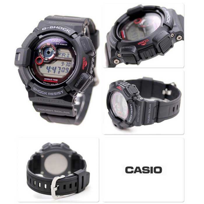 Casio G-Shock G-9300-1 Tough Solar Mens Watch - Black + Red - Free ... 2408ad8276c9