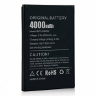DOOGEE 4000mAh 3.8V Li-ion Battery for DOOGEE X5 MAX / X5 MAX Pro