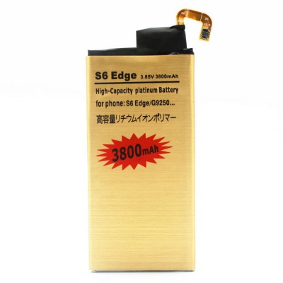 Replacement 3800mAh Battery for Samsung Galaxy S6 Edge - gold