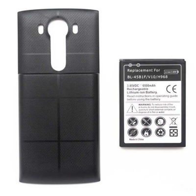 Replacement 6500mAh Li-ion Battery + Back Case for LG V10 + More