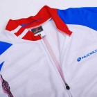 NUCKILY Cycling Short-Sleeve Jersey + Short Pants - White (XL)
