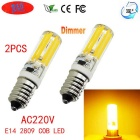JRLED E14 Dimmable 6W 80-COB LED Warm White Light Ceramic Bulbs