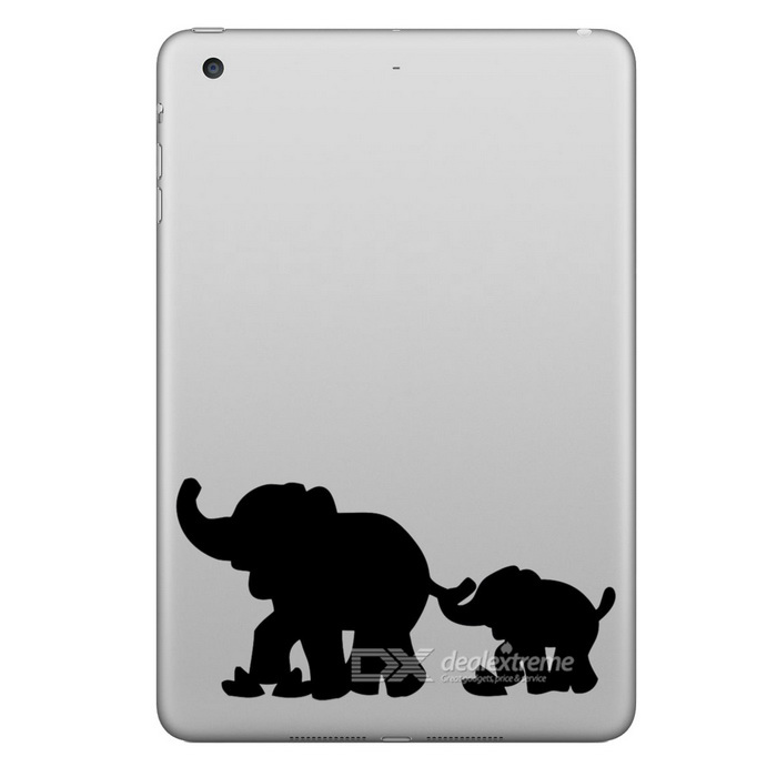 Buy Hat-Prince Elephants Pattern Removable Skin Sticker for IPAD - Black with Litecoins with Free Shipping on Gipsybee.com