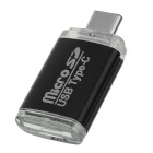 High Speed TF/SD Card USB 3.1 Type-C OTG Card Reader - Black