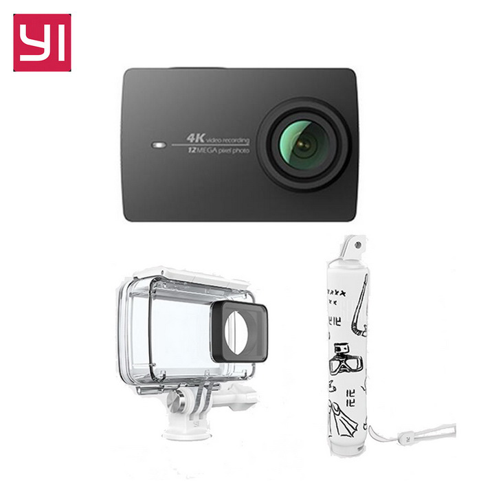 Xiaomi Yi II Wi-Fi 4K 2.19 Touch Sports Camera 2 + Diving Set - BlackSport Cameras<br>Form  ColorBlack(Diving suit)Shade Of ColorBlackMaterialABSQuantity1 DX.PCM.Model.AttributeModel.UnitImage SensorCMOSImage Sensor SizeOthers,IMX377Anti-ShakeYesFocal Distance2.68 DX.PCM.Model.AttributeModel.UnitFocusing RangeF = 2.68mmAperture2.8Wide Angle155 degreeEffective Pixels4KImagesJPEGStill Image Resolution12MPVideoMP4,Others,H.264Video Resolution4KVideo Frame Rate30Cycle RecordNoISONoExposure CompensationNoSupports Card TypeSDSupports Max. Capacity64 DX.PCM.Model.AttributeModel.UnitBuilt-in Memory / RAMNoInput InterfaceMicOutput InterfaceMicro USBLCD ScreenYesScreen TypeTFTScreen Size2.19 DX.PCM.Model.AttributeModel.UnitScreen Resolution169Battery Measured Capacity 1300 DX.PCM.Model.AttributeModel.UnitNominal Capacity1400 DX.PCM.Model.AttributeModel.UnitBattery TypeLi-ion batteryBattery included or notYesBattery Quantity1 DX.PCM.Model.AttributeModel.UnitSupported LanguagesSimplified ChinesePacking List1 * Xiaomi Yi II 4K Action camera1 * Waterproof case1 * Floating grip1 * Battery 1 * Data cable (20cm)1 * User manual(Chinese)<br>