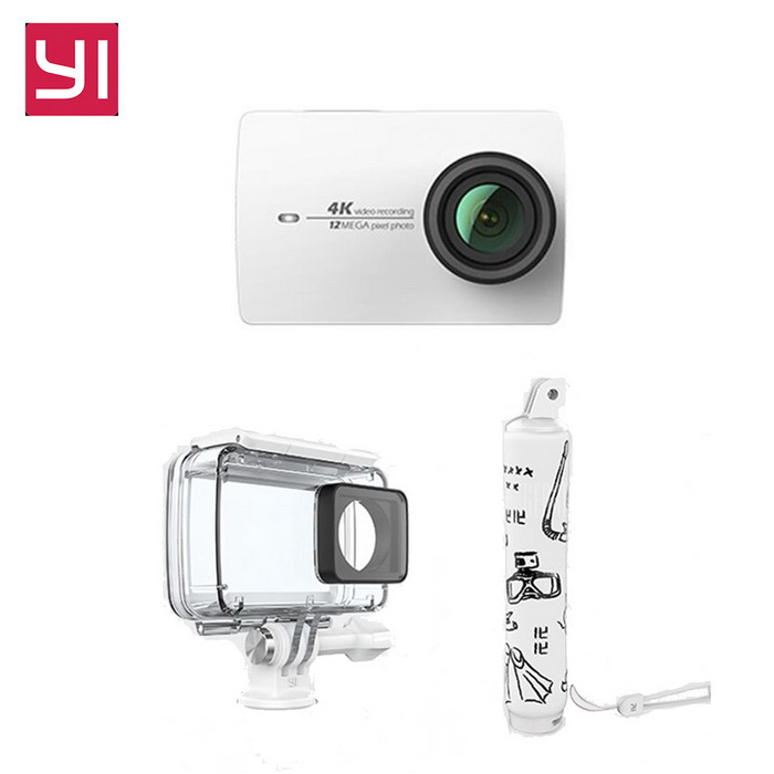 Xiaomi Yi II Wi-Fi 4K 2.19 Touch Sports Camera 2 + Diving Set - WhiteSport Cameras<br>Form  ColorWhite (Diving suit)Shade Of ColorBlackMaterialABSQuantity1 DX.PCM.Model.AttributeModel.UnitImage SensorCMOSImage Sensor SizeOthers,IMX377Anti-ShakeYesFocal Distance2.68 DX.PCM.Model.AttributeModel.UnitFocusing RangeF = 2.68mmAperture2.8Wide Angle155Effective Pixels4KImagesJPEGStill Image Resolution12MPVideoMP4,Others,H.264Video Resolution4KVideo Frame Rate30Cycle RecordNoISONoExposure CompensationNoSupports Card TypeSDSupports Max. Capacity64 DX.PCM.Model.AttributeModel.UnitBuilt-in Memory / RAMNoInput InterfaceMicOutput InterfaceMicro USBLCD ScreenYesScreen TypeTFTScreen Size2.19 DX.PCM.Model.AttributeModel.UnitScreen Resolution169Battery Measured Capacity 1300 DX.PCM.Model.AttributeModel.UnitNominal Capacity1400 DX.PCM.Model.AttributeModel.UnitBattery TypeLi-ion batteryBattery included or notYesBattery Quantity1 DX.PCM.Model.AttributeModel.UnitSupported LanguagesSimplified ChinesePacking List1 * Xiaomi Yi II 4K Action camera1 * Waterproof case1 * Floating grip1 * Battery 1 * Data cable (20cm)1 * User manual(Chinese)<br>