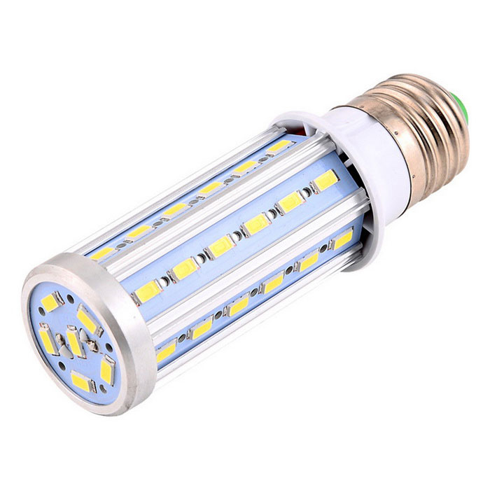YWXLight E27 10W Wide Voltage LED Corn Bulb LampE27<br>Color BINCool WhiteMaterialAluminum, PCForm  ColorWhite + Orange + Multi-ColoredQuantity1 DX.PCM.Model.AttributeModel.UnitPower10WRated VoltageAC 85-265 DX.PCM.Model.AttributeModel.UnitConnector TypeE27Emitter TypeOthers,5730 SMDTotal Emitters42Theoretical Lumens1200 DX.PCM.Model.AttributeModel.UnitActual Lumens800-1000 DX.PCM.Model.AttributeModel.UnitColor Temperature6000KDimmableNoBeam Angle360 DX.PCM.Model.AttributeModel.UnitPacking List1 * YWXLight  LED Bulb<br>