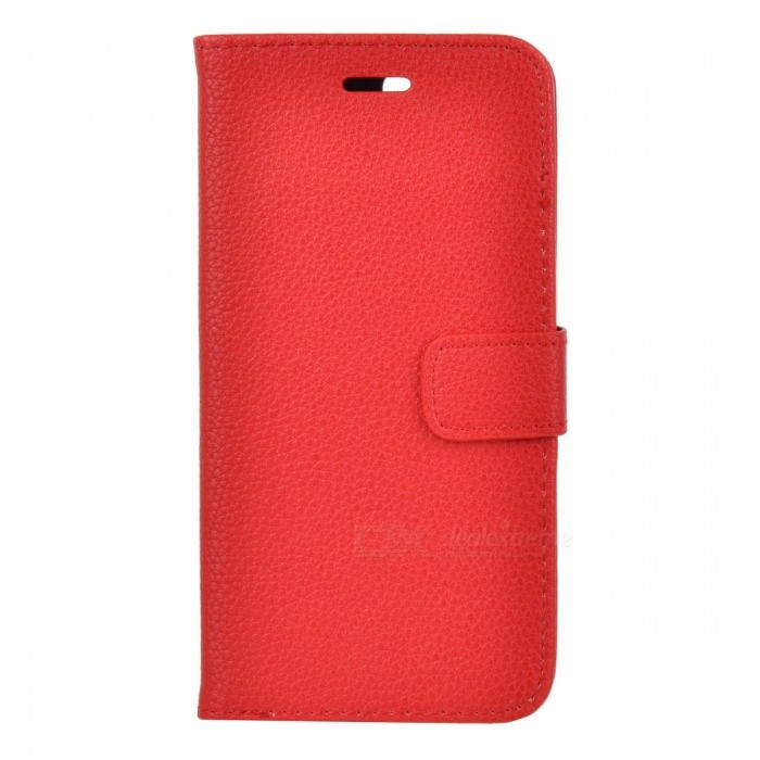 Lichee Pattern Protective Full Body Case for IPHONE 7 Plus - RedLeather Cases<br>Form  ColorRedQuantity1 DX.PCM.Model.AttributeModel.UnitMaterialPUCompatible ModelsOthers,iPhone 7StyleFull Body CasesDesignSolid Color,With Stand,Lichee Pattern,Card SlotAuto Wake-up / SleepNoPacking List1 * Case<br>