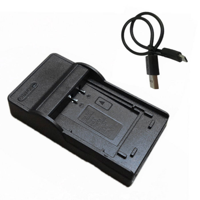 BK1 Micro USB Mobile kamera batterilader for Sony - Svart