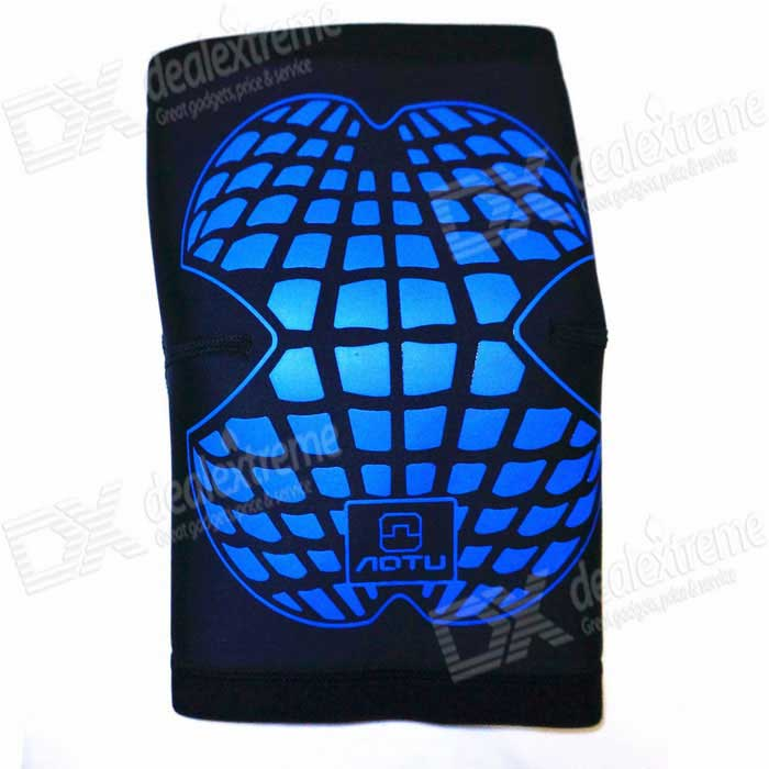 AOTU Men / Women Outdoor Sports Breathable Warm Kneepad - Black + Blue
