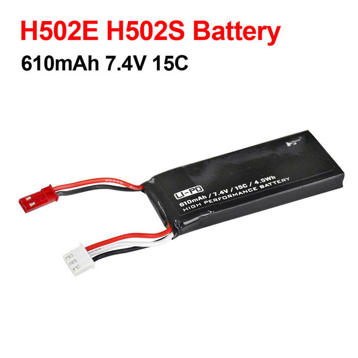 Hubsan X4 H502E H502S Spare Part H502-16 7.4V 15C 610mAh BatteryOther Accessories for R/C Toys<br>Form  ColorBlackModelH502-16MaterialLi-polymerQuantity1 DX.PCM.Model.AttributeModel.UnitCompatible ModelH502E H502SPacking List1 * Lipo Battery<br>