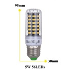 YouOKLight Dimming E27 5W 56-SMD 5733 Cold White LED Corn Bulb