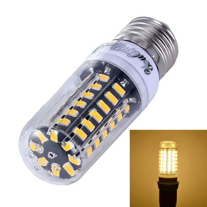 YouOKLight Dimming E27 5W 56-SMD 5733 Warm White LED Corn BulbE27<br>Color BINWarm WhiteModelYK1084-WWMaterialAluminum and PlasticForm  ColorTransparent + White + Multi-ColoredQuantity1 DX.PCM.Model.AttributeModel.UnitPower5WRated VoltageAC 220 DX.PCM.Model.AttributeModel.UnitConnector TypeE27Chip BrandOthers,SANANEmitter TypeOthers,5733 SMD LEDTotal Emitters56Theoretical Lumens558 DX.PCM.Model.AttributeModel.UnitActual Lumens500 DX.PCM.Model.AttributeModel.UnitColor Temperature3000KDimmableYesBeam Angle360 DX.PCM.Model.AttributeModel.UnitCertificationCE, RoHS, FCC, WEEEPacking List1 * LED Corn bulb<br>