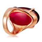 Xinguang Women's Red Resin Ring - Gold (US Size 8)
